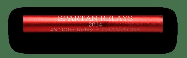 red relay baton (RelayBatons.com)