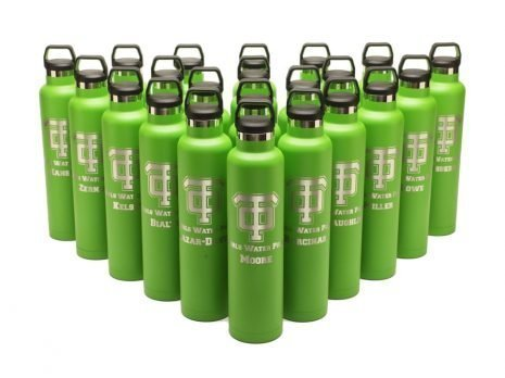engraved RTIC 26oz water Bottles - green (RelayBatons.com)