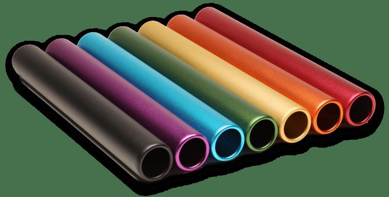 Custom Engraved Relay Batons Base Colors - MATTE FINISH (RelayBatons.com)