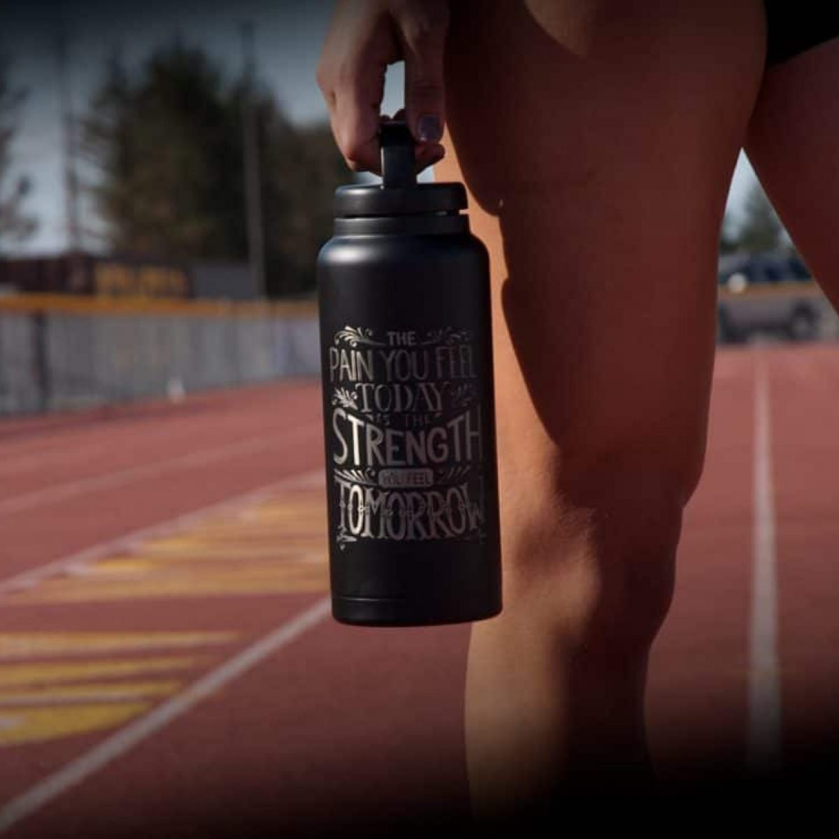 Winner with Engraved RTIC 36oz Water Bottle (RelayBatons.com)